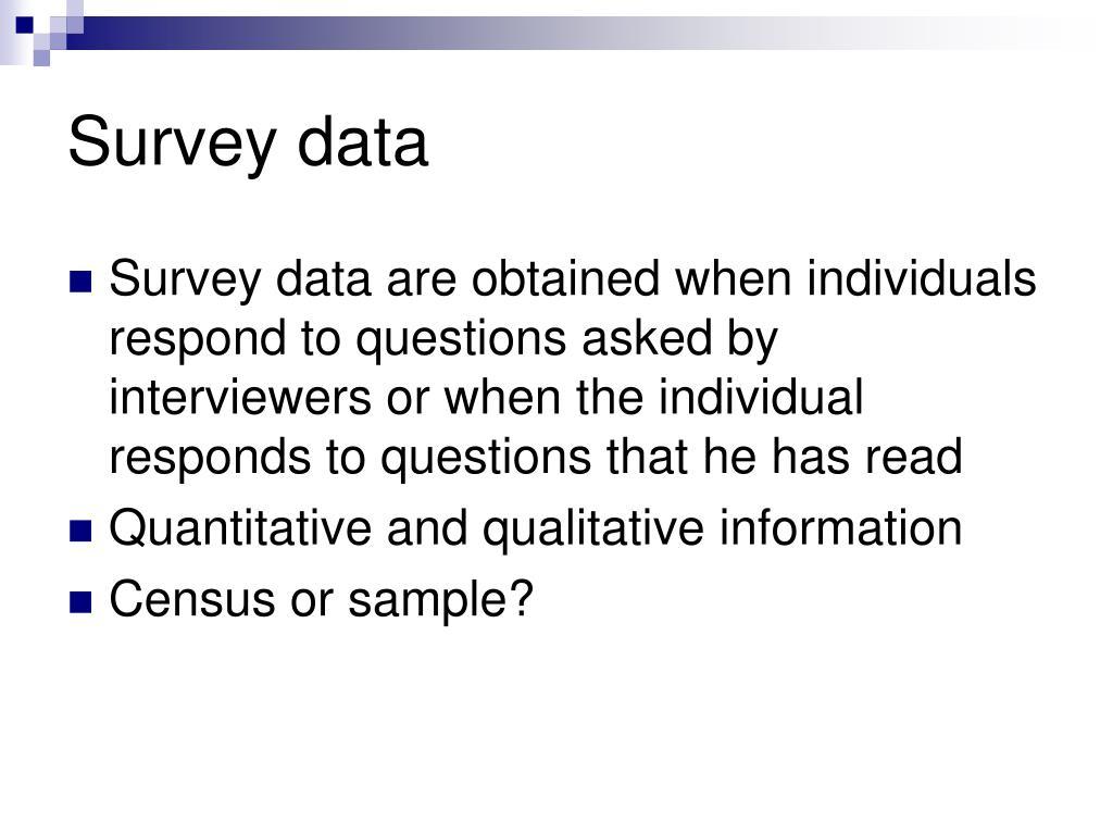 Survey data