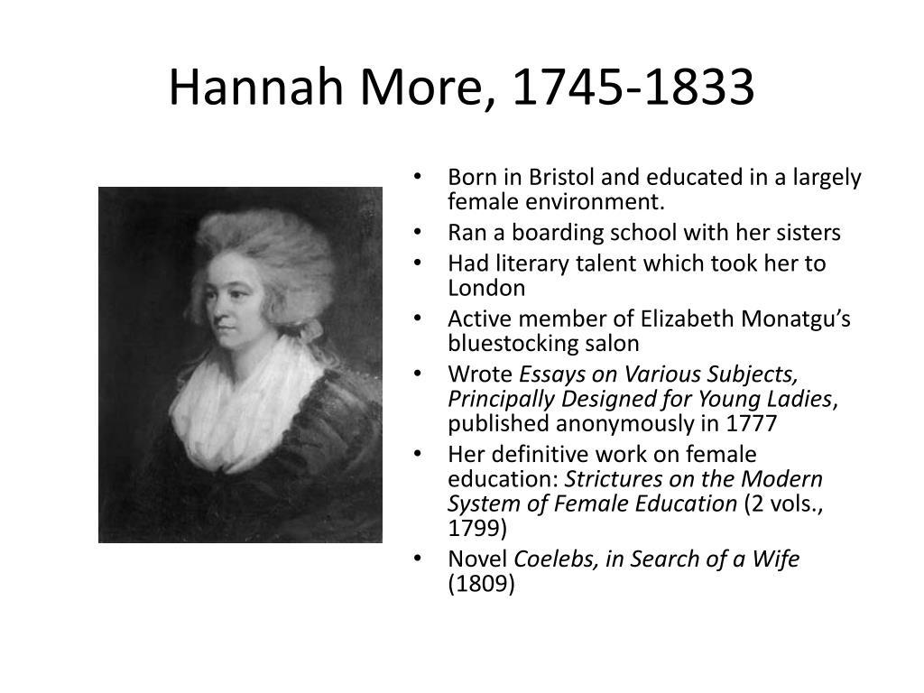Hannah More, 1745-1833