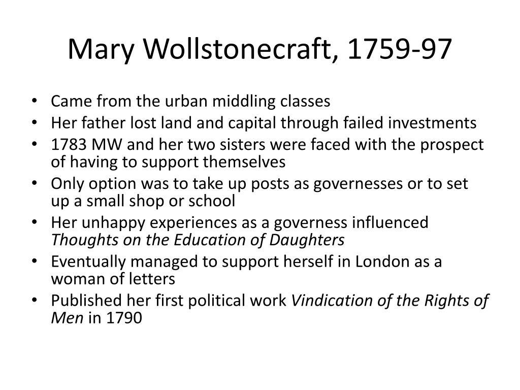 Mary Wollstonecraft, 1759-97