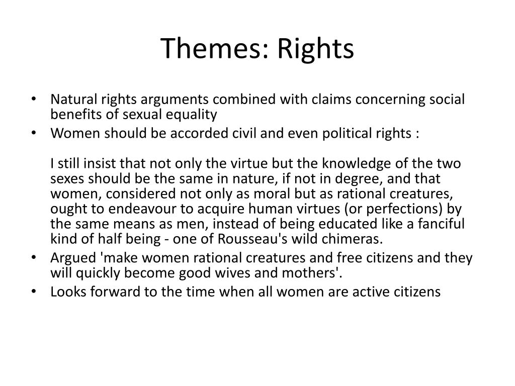 Themes: Rights