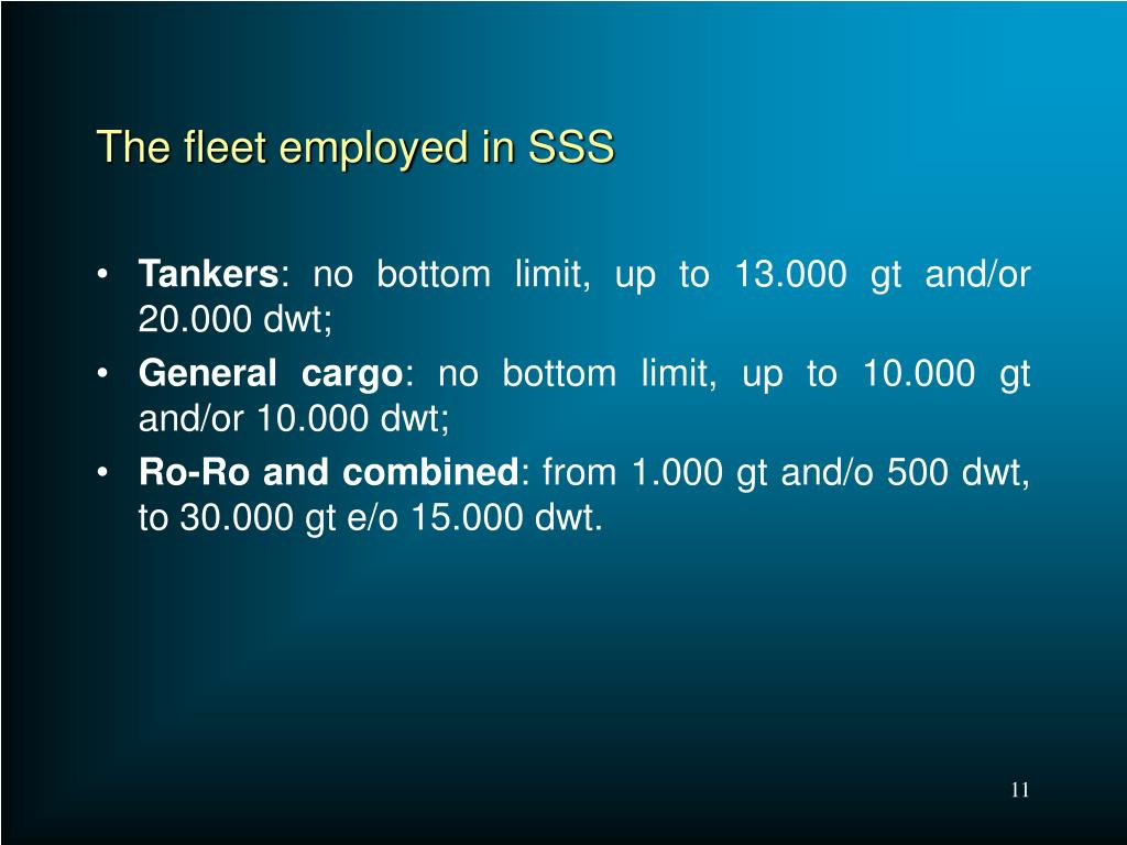The fleet employed in SSS