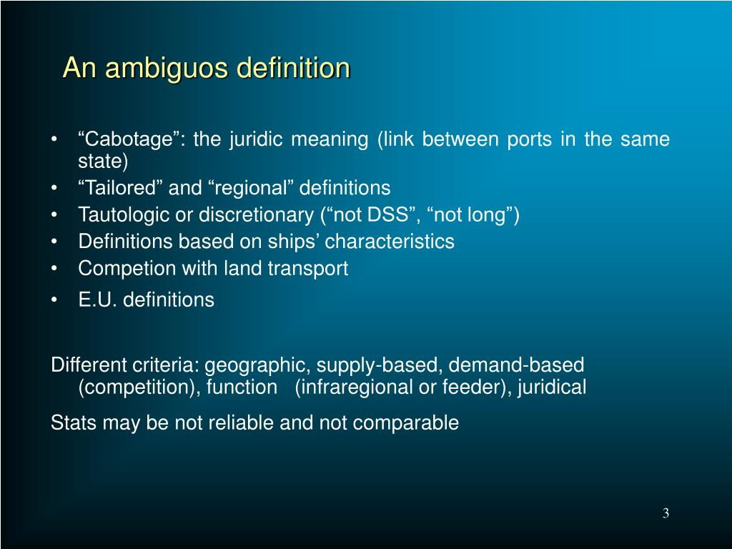 An ambiguos definition