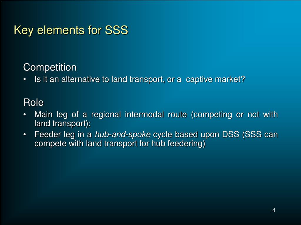 Key elements for SSS