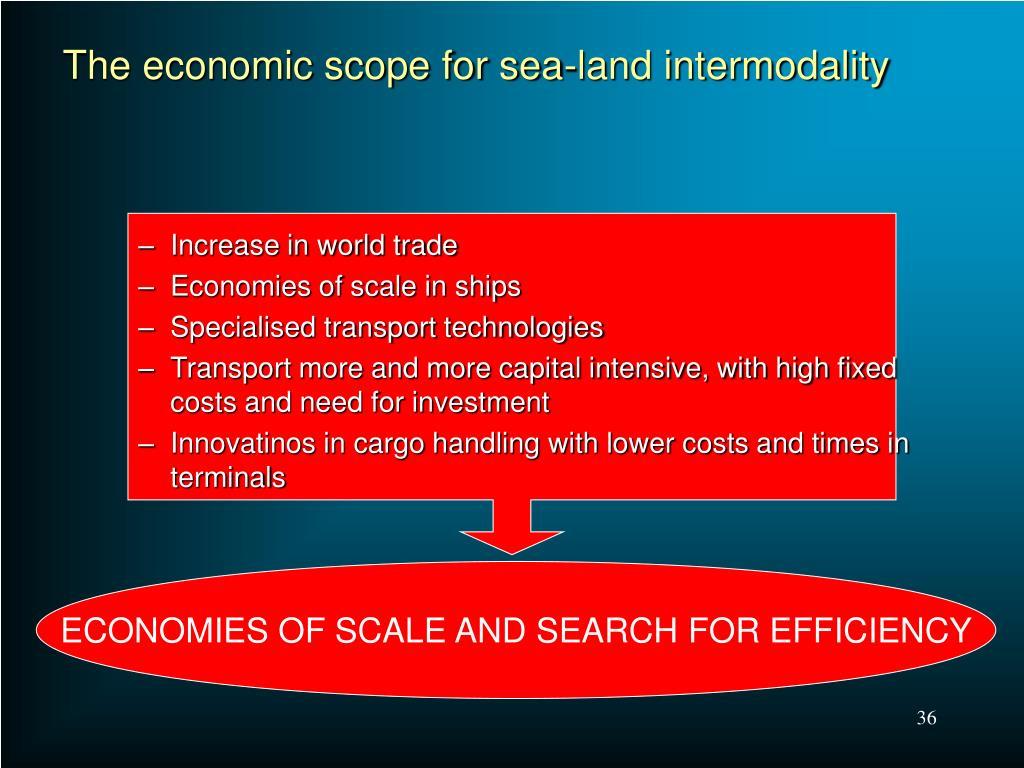 The economic scope for sea-land intermodality