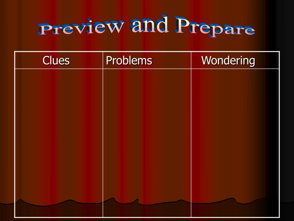 Preview and Prepare
