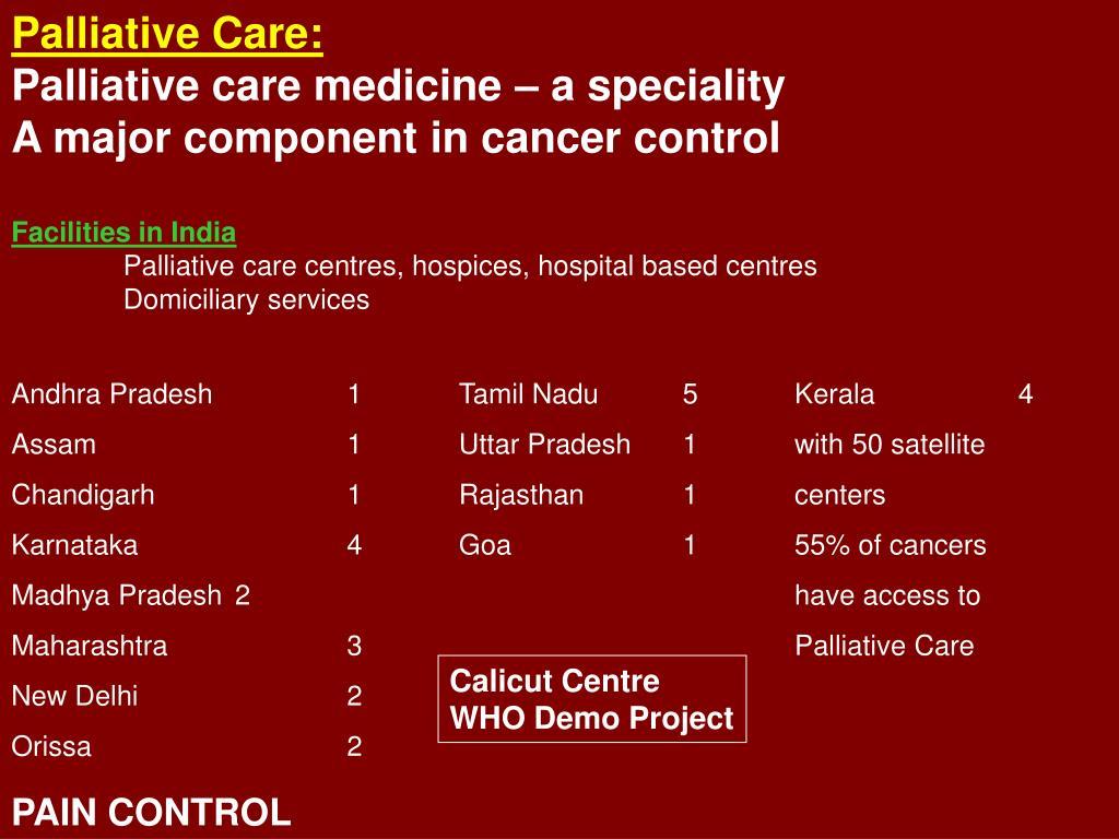 Palliative Care: