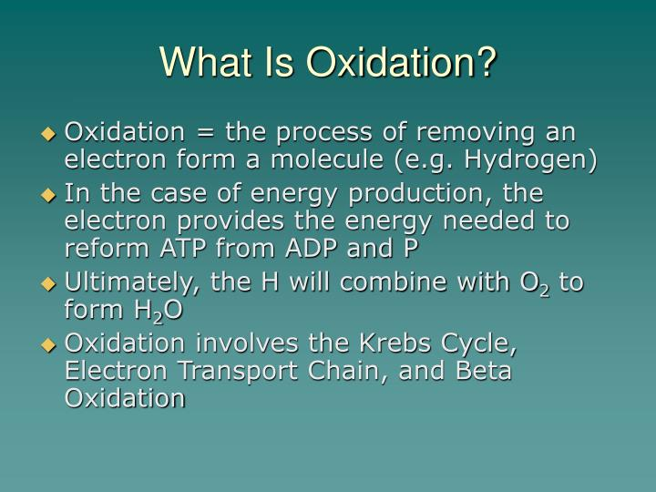 What is oxidation