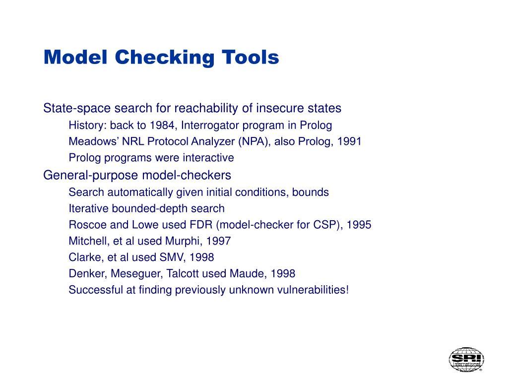 Model Checking Tools