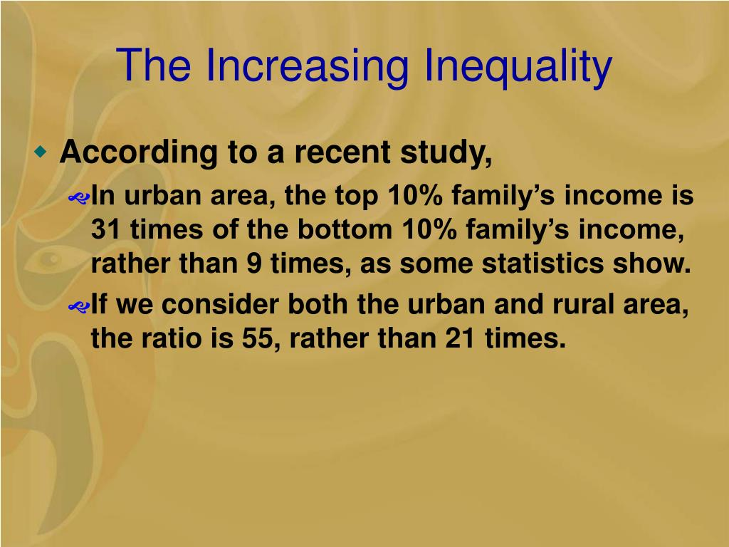 The Increasing Inequality