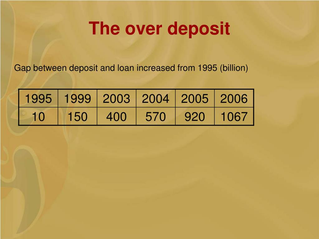 The over deposit