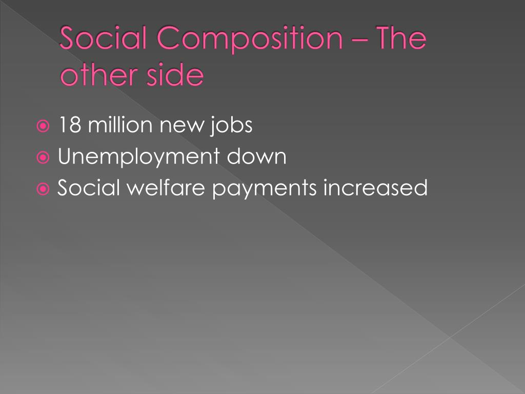 Social Composition – The other side