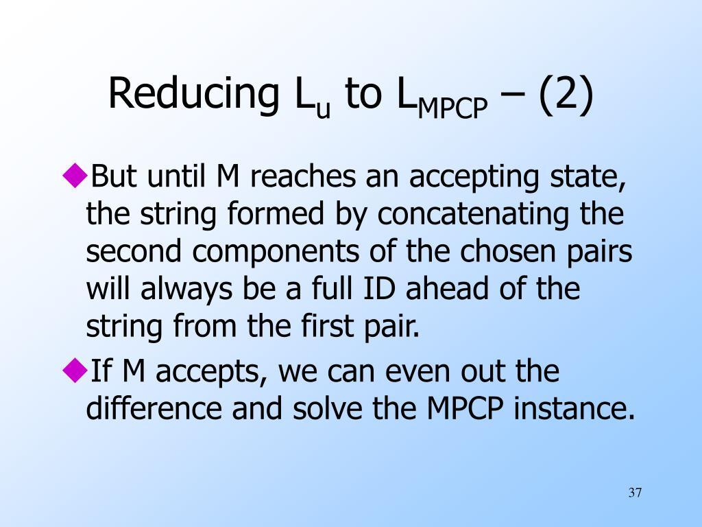 Reducing L