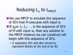 reducing l u to l mpcp