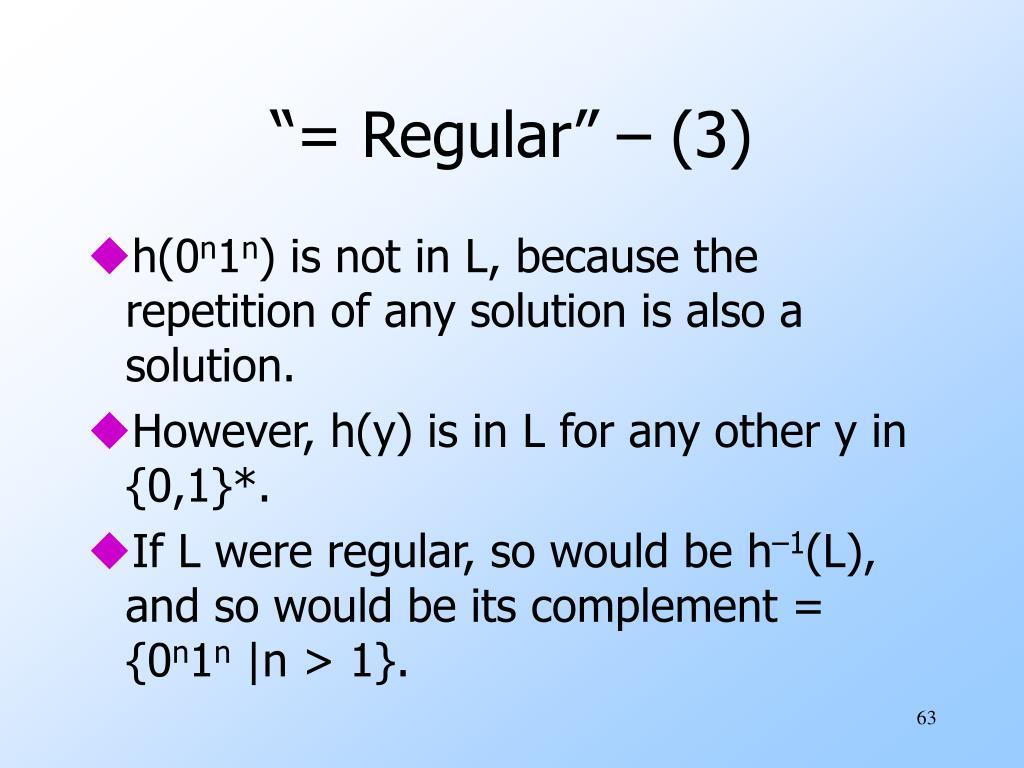 """= Regular"" – (3)"