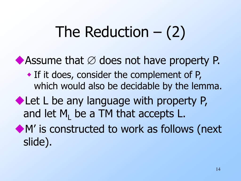 The Reduction – (2)