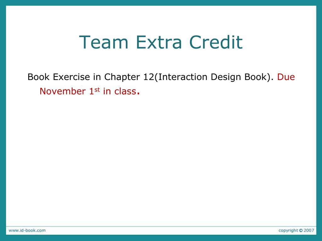 Team Extra Credit