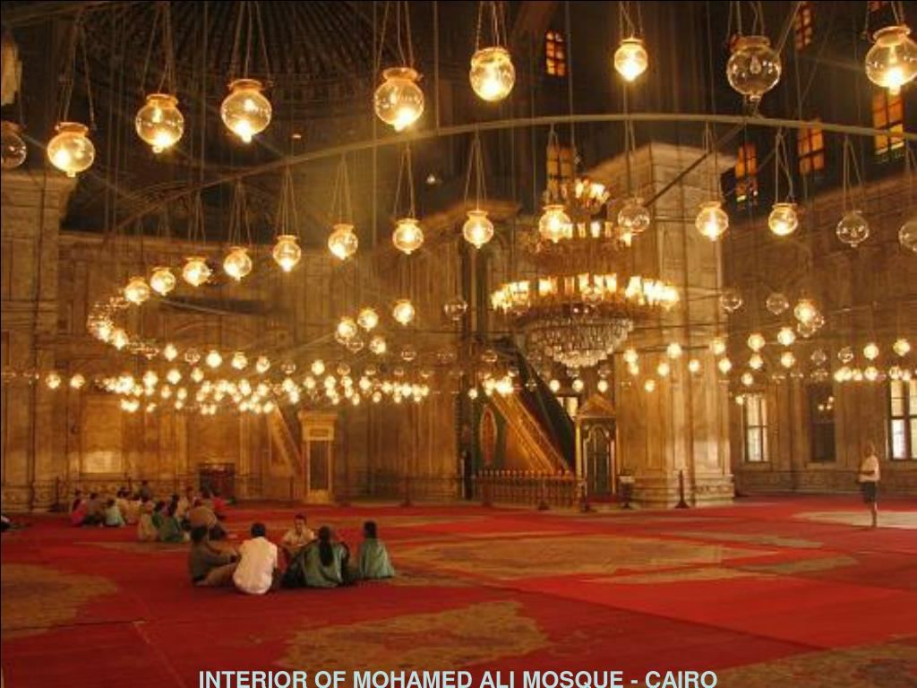 INTERIOR OF MOHAMED ALI MOSQUE - CAIRO
