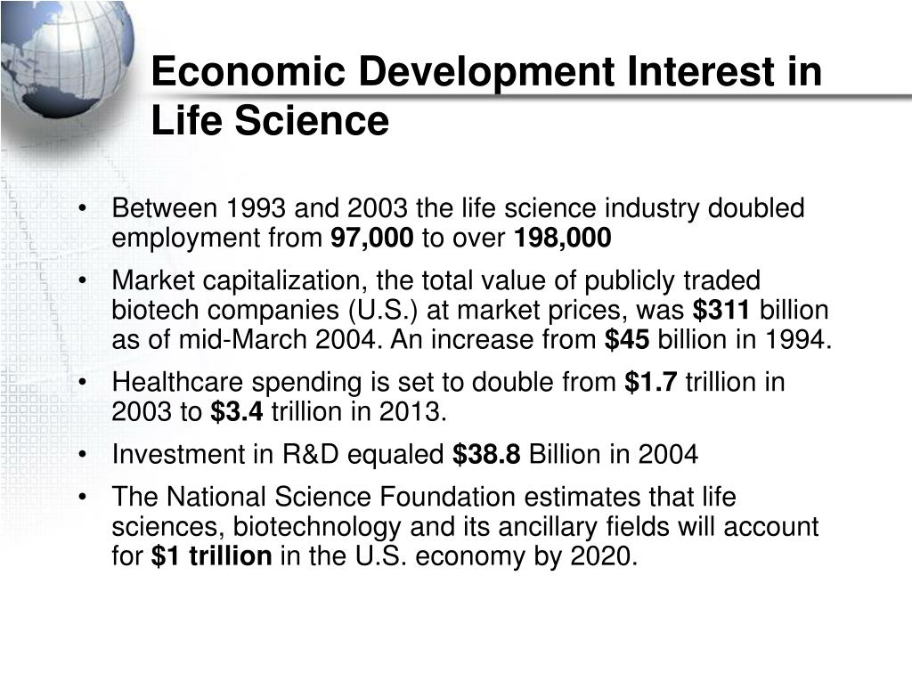Economic Development Interest in Life Science