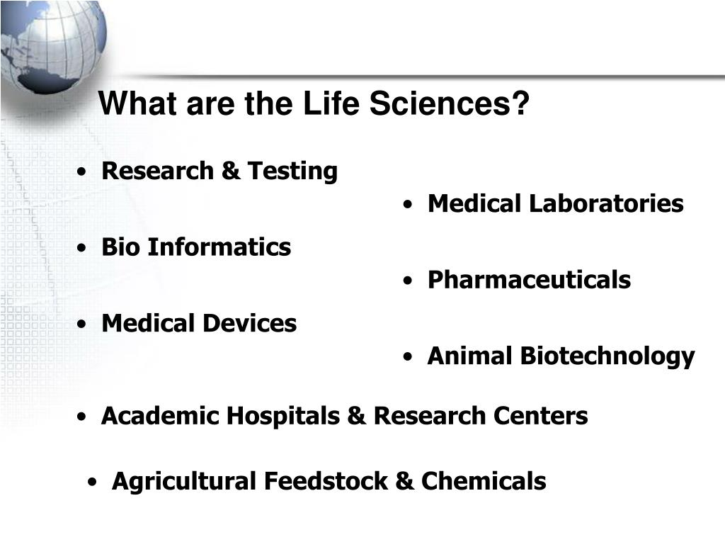 What are the Life Sciences?