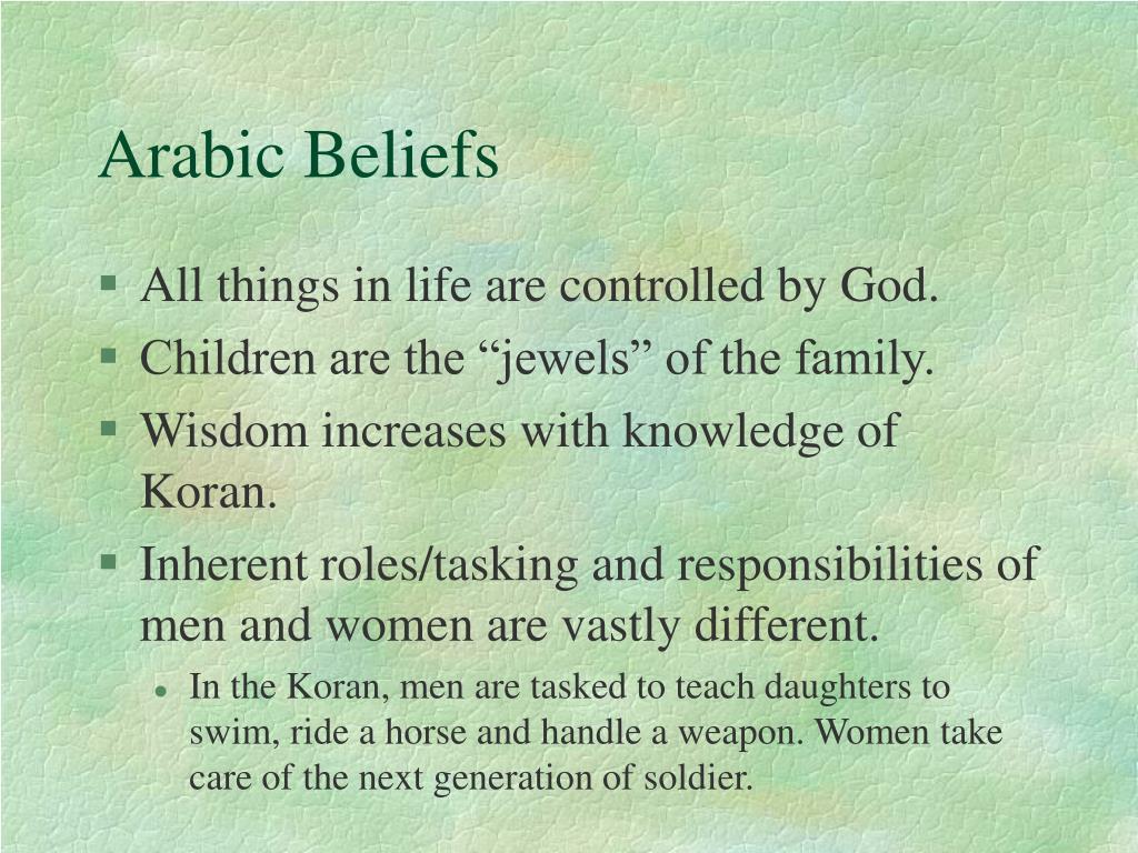 Arabic Beliefs