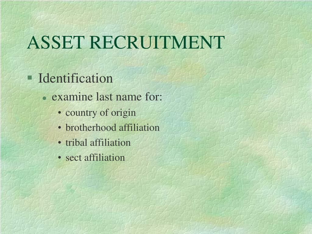 ASSET RECRUITMENT