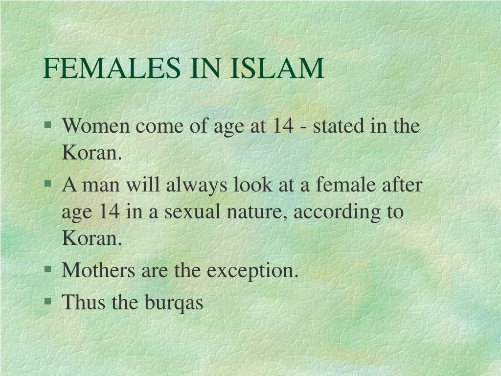 FEMALES IN ISLAM