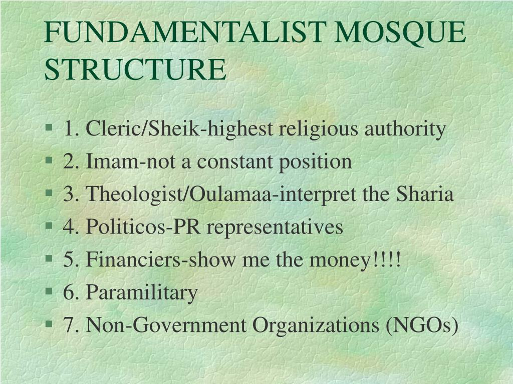 FUNDAMENTALIST MOSQUE