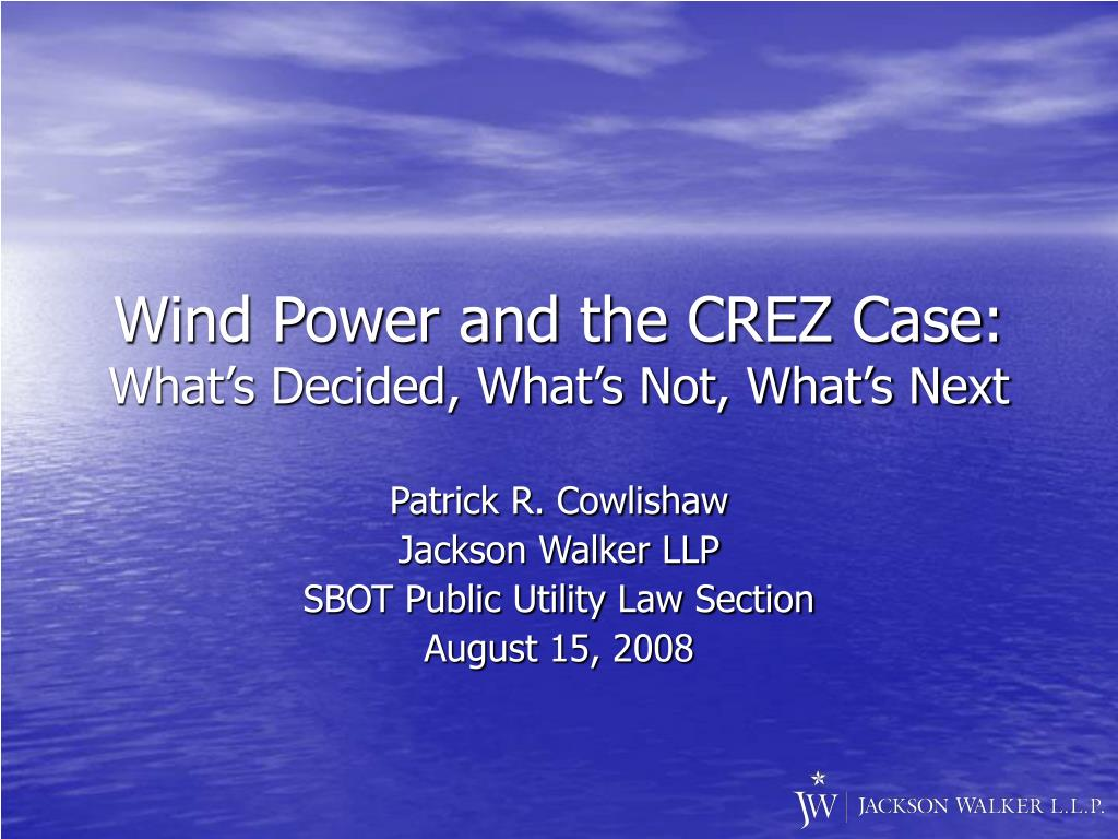 Wind Power and the CREZ Case: