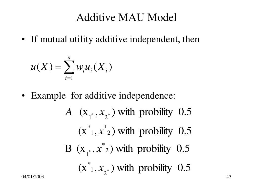 Additive MAU Model