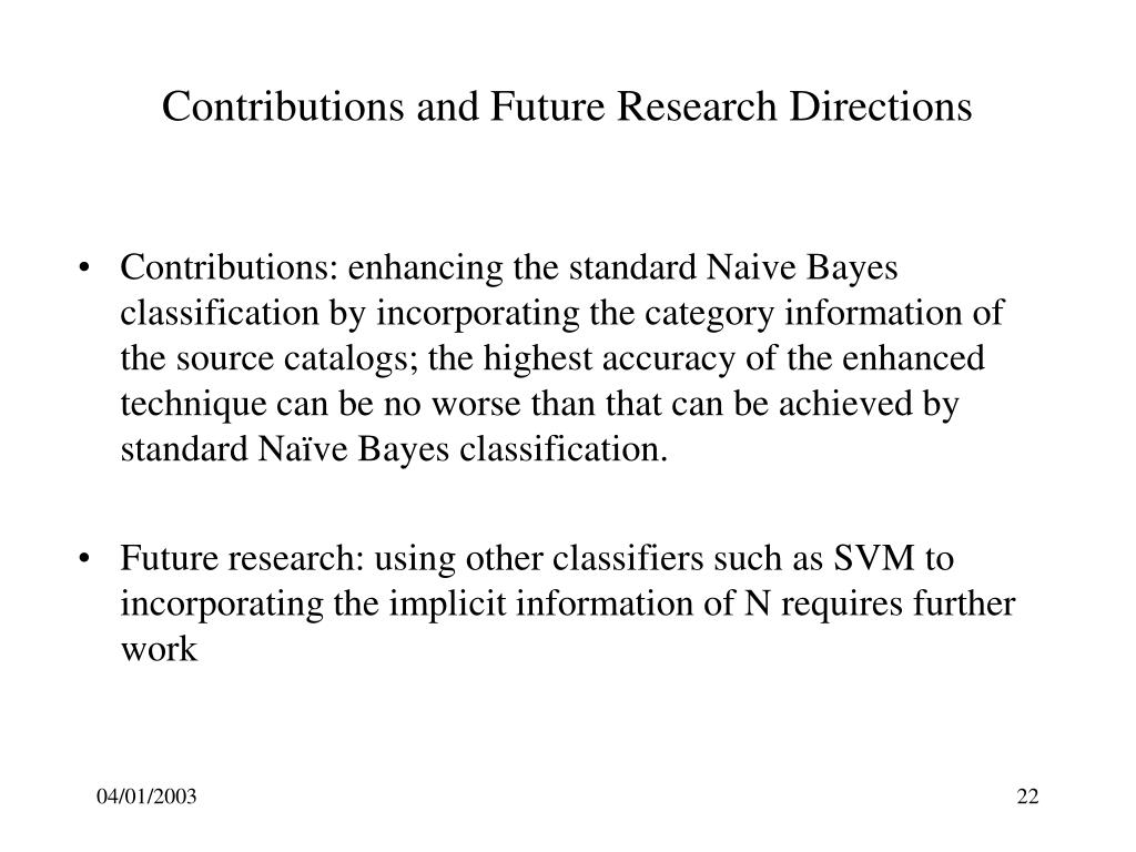 Contributions and Future Research Directions