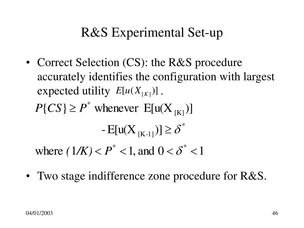 R&S Experimental Set-up