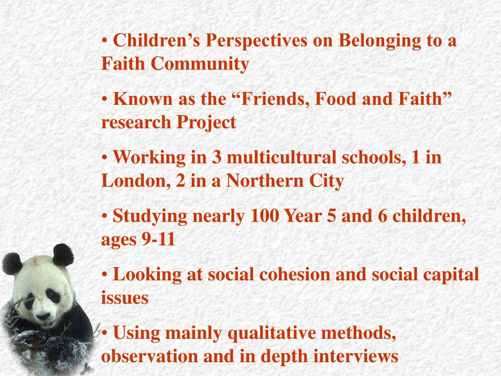 Children's Perspectives on Belonging to a Faith Community