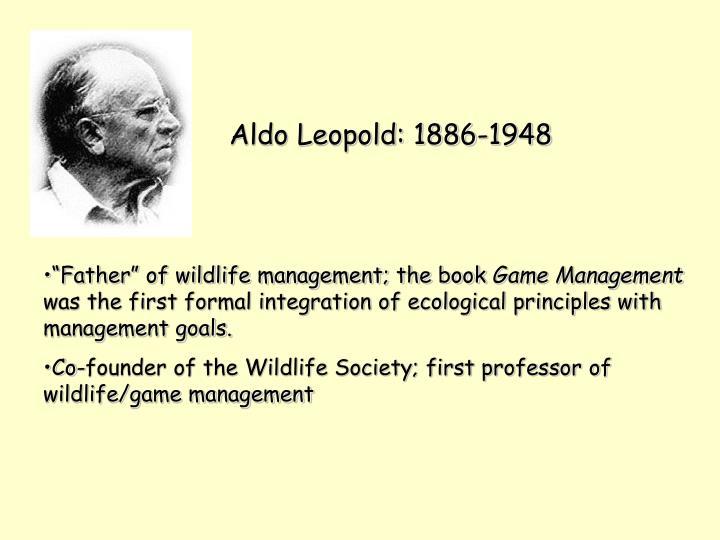 Aldo Leopold: 1886-1948