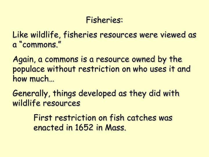 Fisheries:
