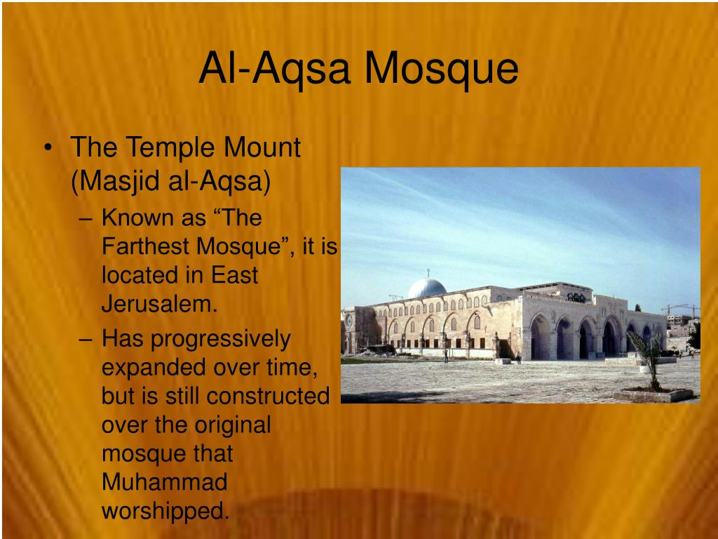 The Temple Mount (Masjid al-Aqsa)