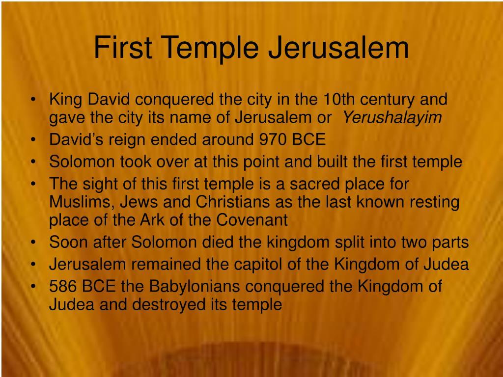 First Temple Jerusalem