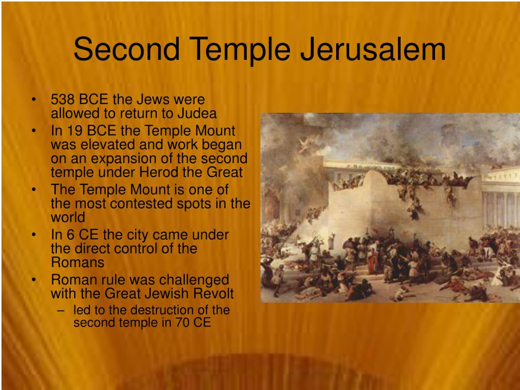 538 BCE the Jews were allowed to return to Judea