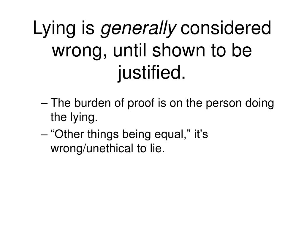 Lying is