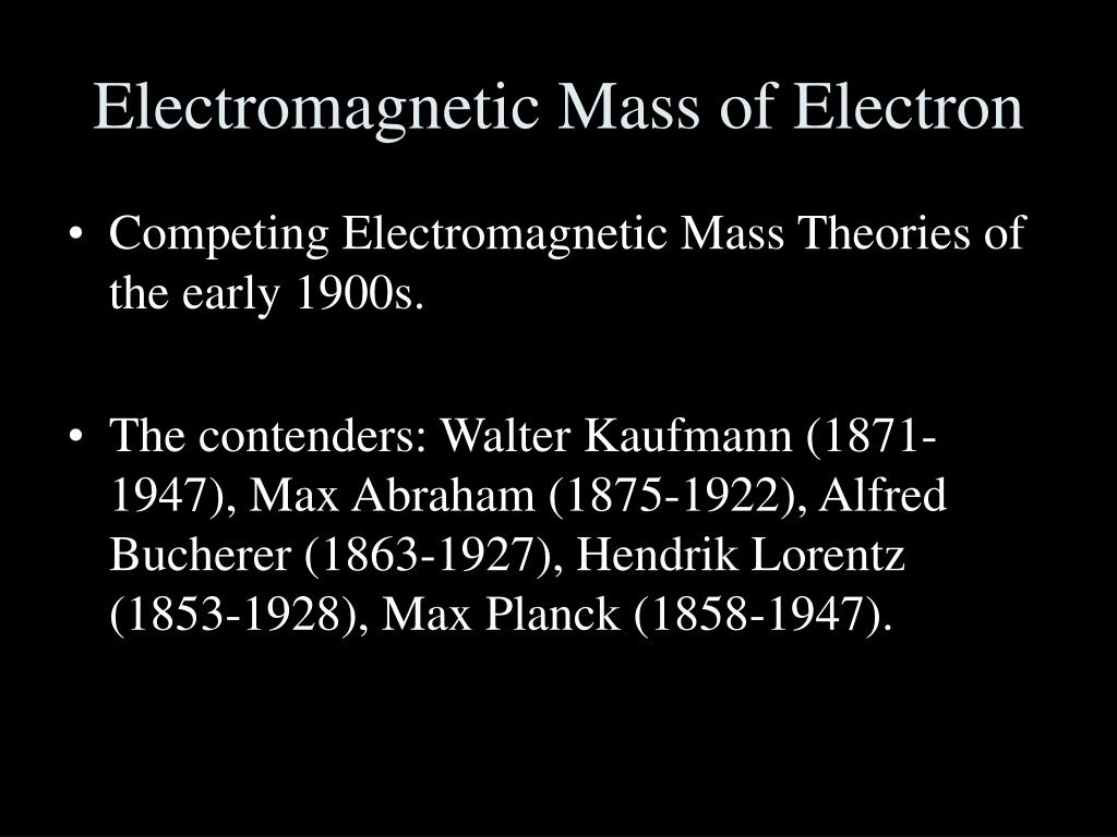 Electromagnetic Mass of Electron