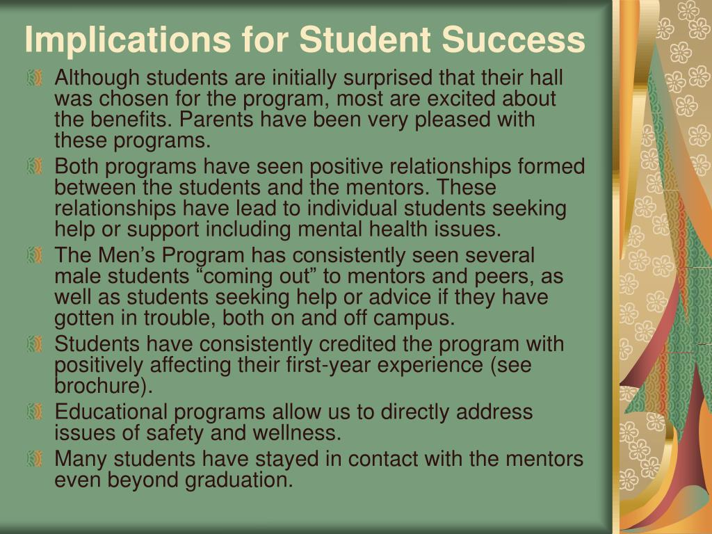 Implications for Student Success