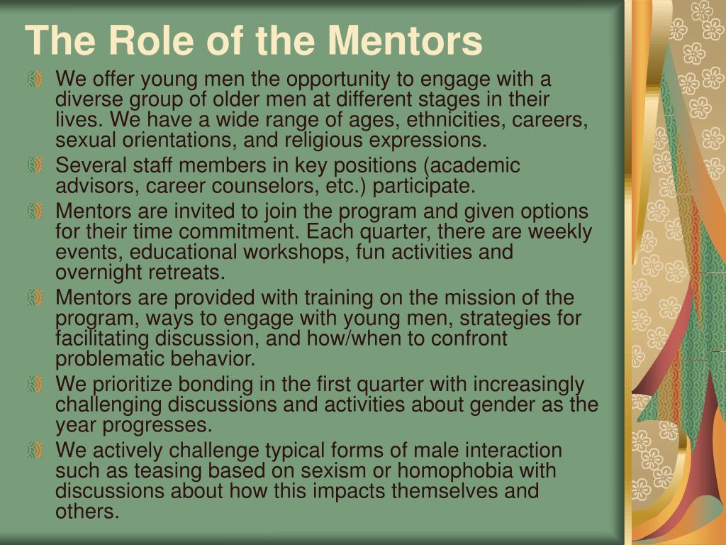 The Role of the Mentors