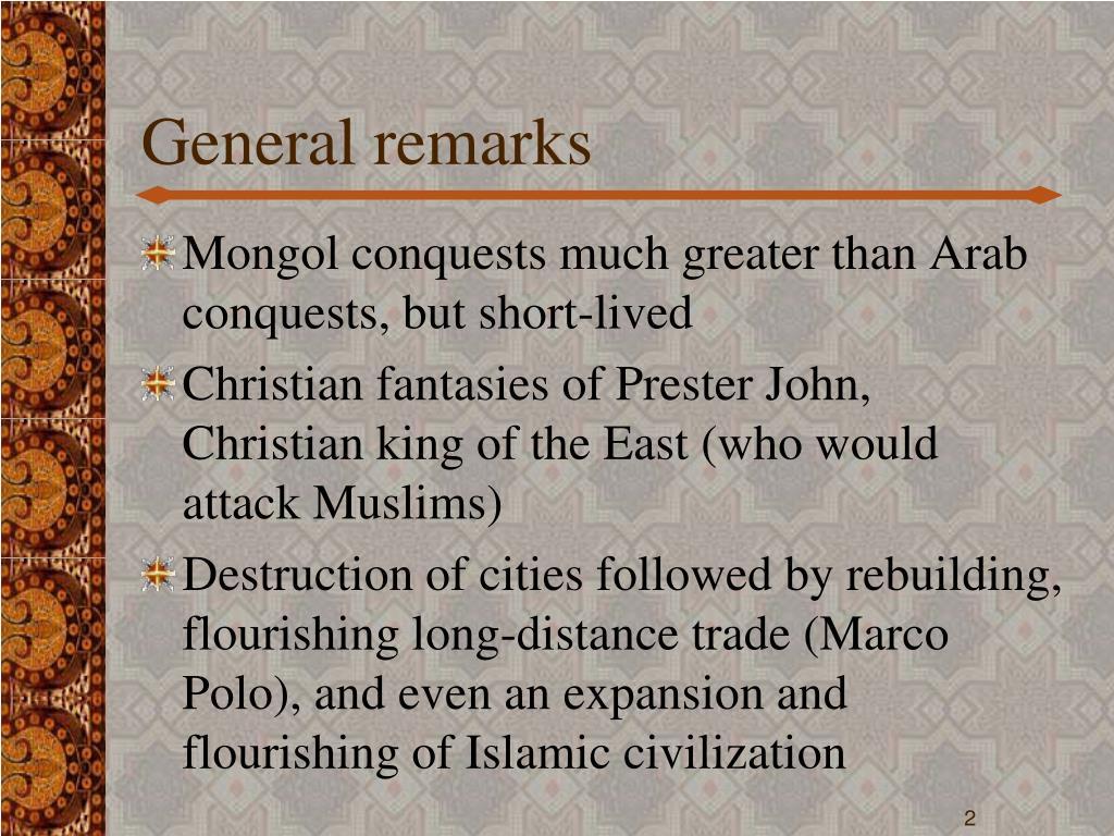 General remarks