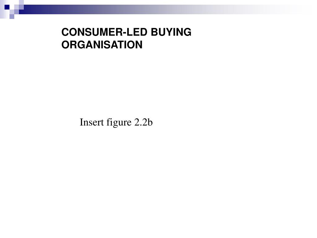 CONSUMER-LED BUYING ORGANISATION