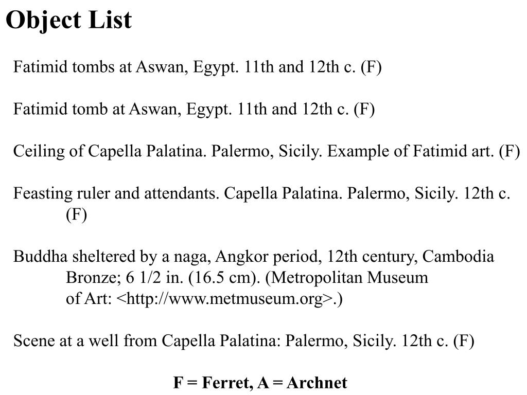 Object List