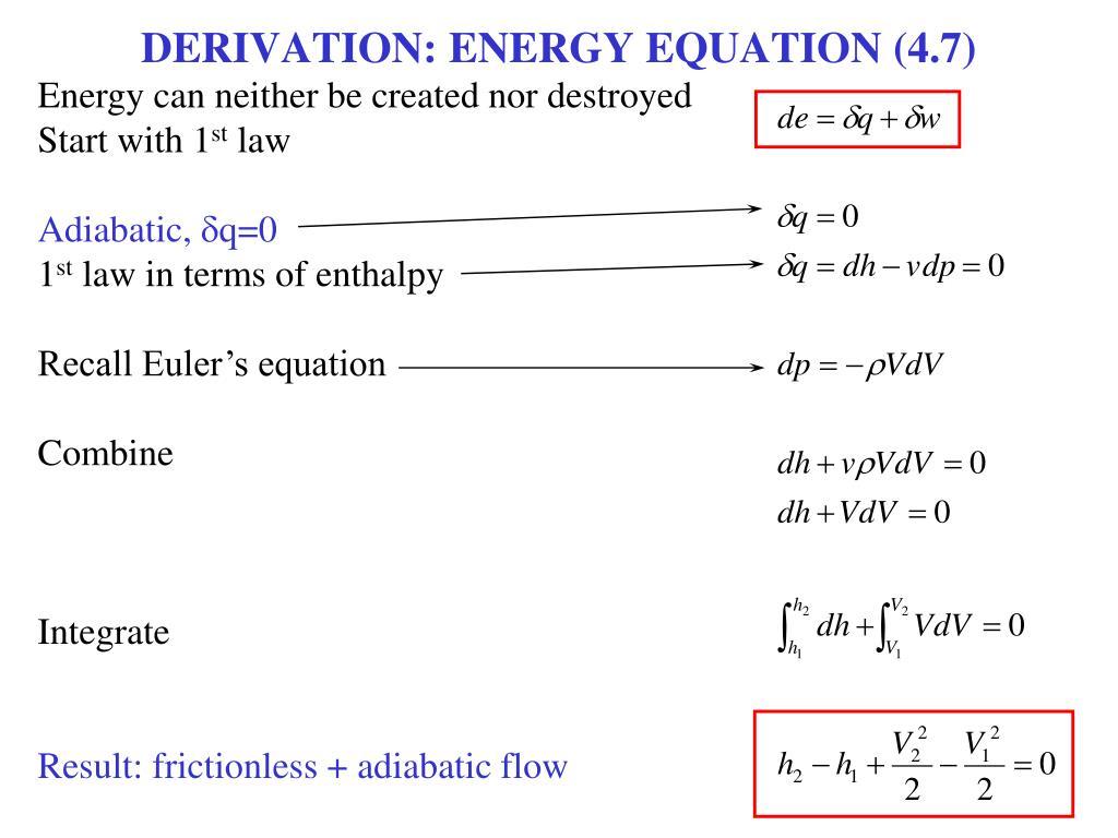 DERIVATION: ENERGY EQUATION (4.7)