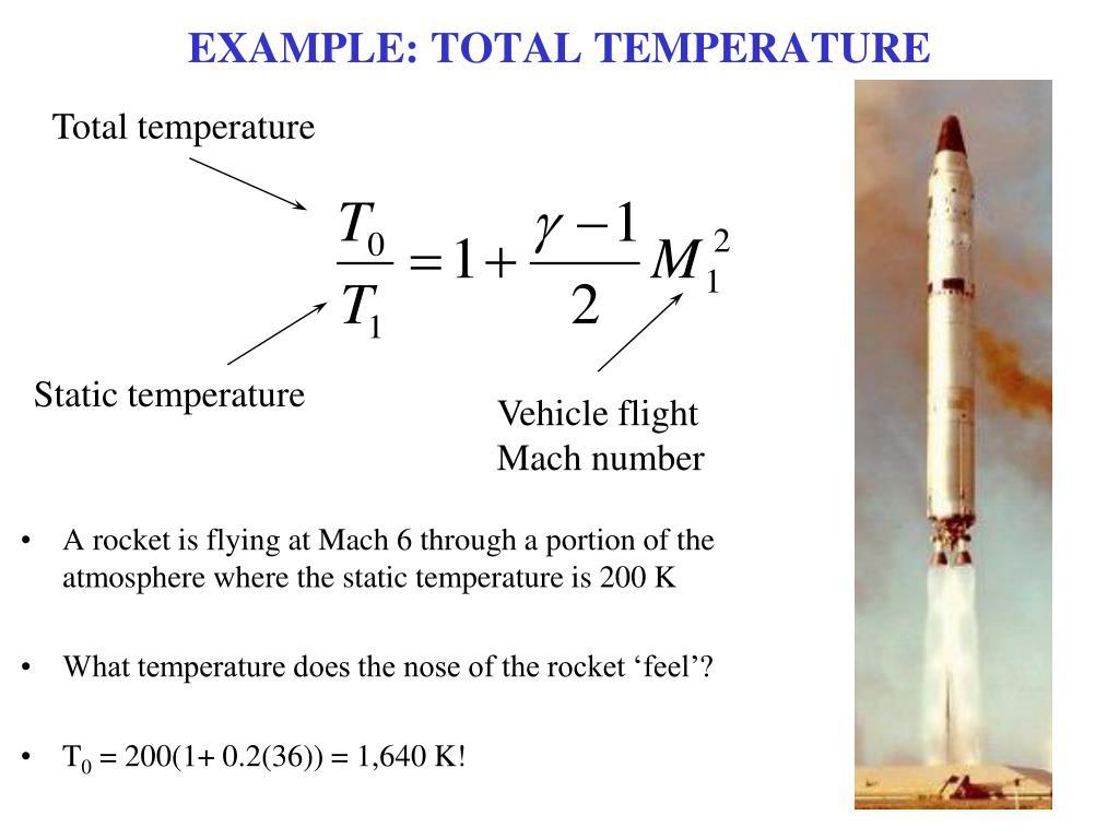 EXAMPLE: TOTAL TEMPERATURE