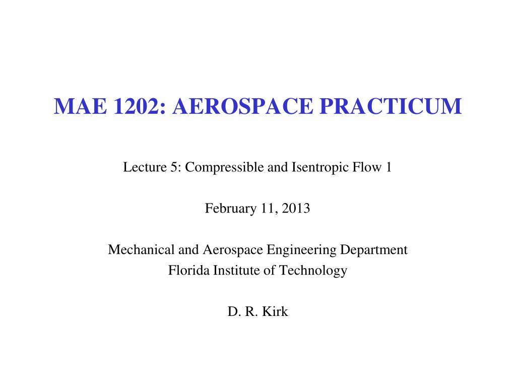 MAE 1202: AEROSPACE PRACTICUM