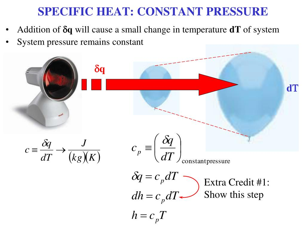 SPECIFIC HEAT: CONSTANT PRESSURE