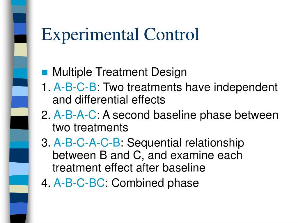 Experimental Control