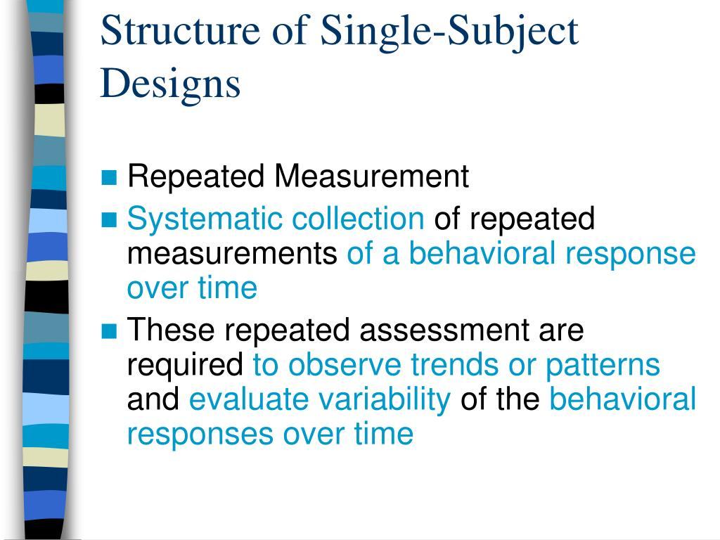 Structure of Single-Subject Designs